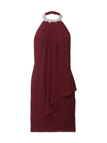 Laona Cocktailkleid in Wickeloptik Bordeaux Rot