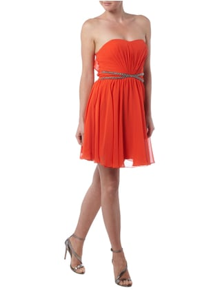 Laona Cocktailkleid mit gekreuzter Taillenpasse in Orange - 1