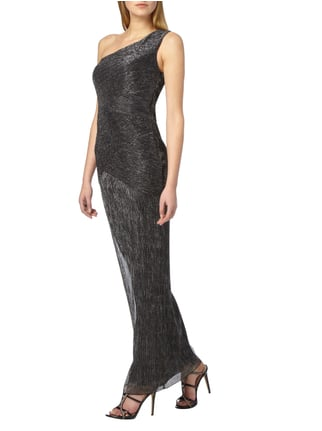 Laona One-Shoulder-Abendkleid mit Effektgarn in Grau / Schwarz - 1