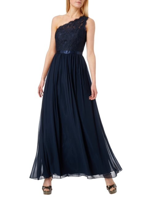 Laona One-Shoulder-Abendkleid mit floralen Stickereien in Blau / Türkis - 1