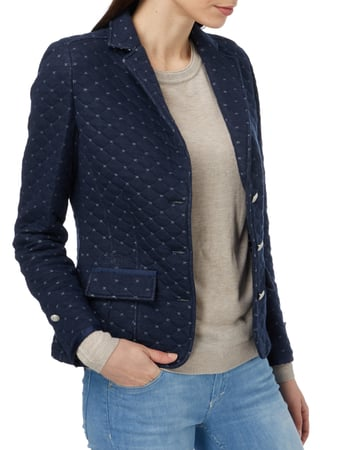 LArgentina Sweatblazer mit Steppnähten Marineblau - 1