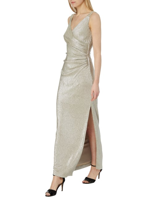 Lauren Ralph Lauren Abendkleid in Metallicoptik in Gelb - 1
