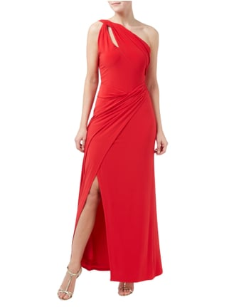 Lauren Ralph Lauren Abendkleid mit One-Shoulder-Träger in Rot - 1