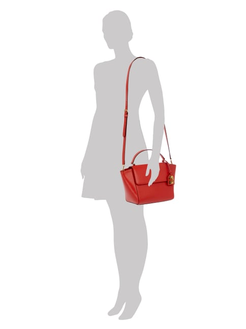 Lauren Ralph Lauren Crossbody Bag aus echtem Leder in Rot - 1