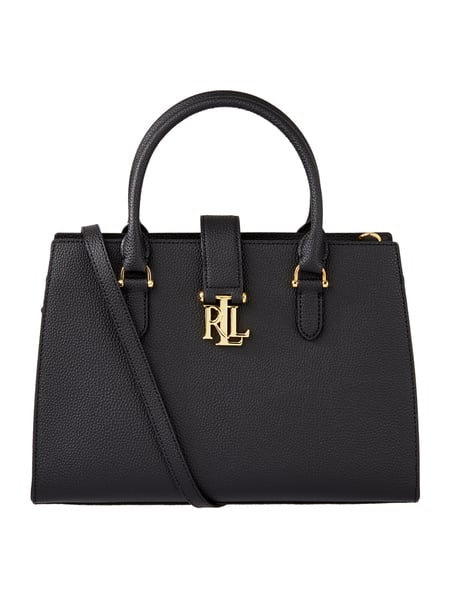 lauren ralph lauren handtasche aus leder in grau schwarz online kaufen 9696655 p c online. Black Bedroom Furniture Sets. Home Design Ideas