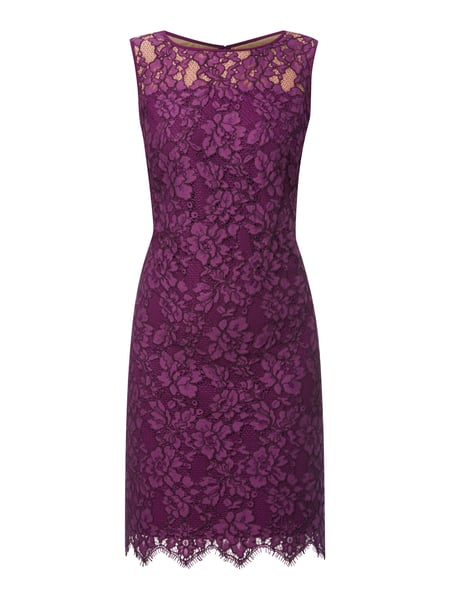 shopping the best attitude great deals 2017 Lauren Ralph Lauren – Kleid aus unterlegter Spitze – Aubergine