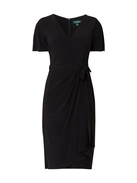 Lauren Ralph Lauren Kleid in Wickel-Optik Grau / Schwarz - 1