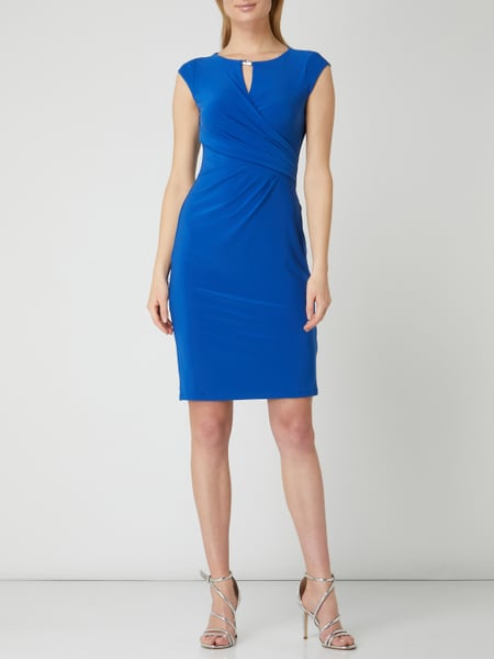 LAUREN RALPH LAUREN Kleid mit Cut Out in Blau / Türkis ...