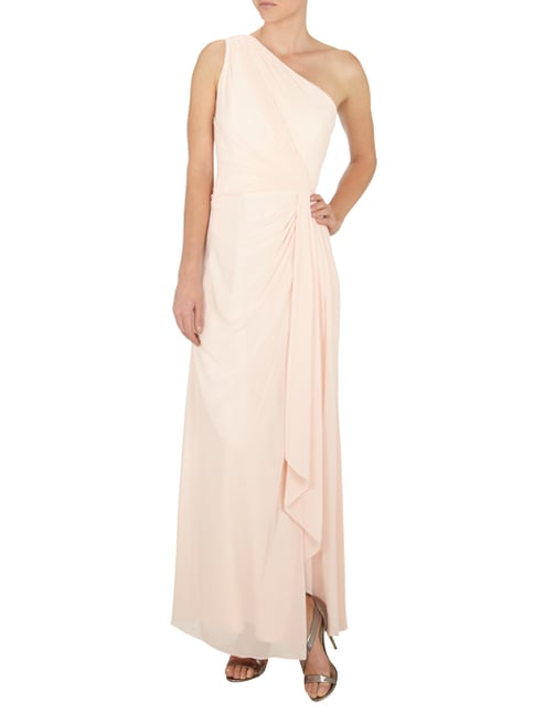 Lauren Ralph Lauren One-Shoulder-Abendkleid aus Chiffon in Weiß - 1
