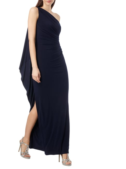 Lauren Ralph Lauren One-Shoulder-Abendkleid mit Raffungen in Blau / Türkis - 1