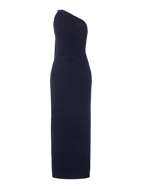 One-Shoulder-Abendkleid mit Raffungen Blau / Türkis - 1