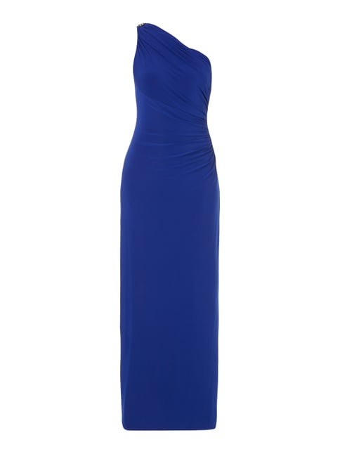 One-Shoulder-Abendkleid mit Schmuckdetail Blau / Türkis - 1
