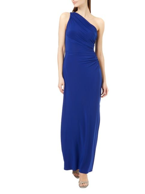 Lauren Ralph Lauren One-Shoulder-Abendkleid mit Schmuckdetail in Blau / Türkis - 1