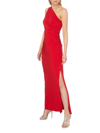Lauren Ralph Lauren One-Shoulder-Abendkleid mit Schmuckdetail in Rot - 1