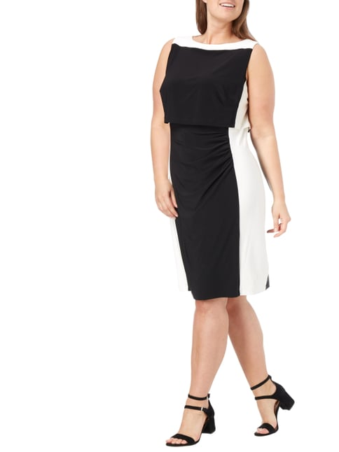 Lauren Ralph Lauren PLUS SIZE - Kleid im Rock-Top-Look in Grau / Schwarz - 1