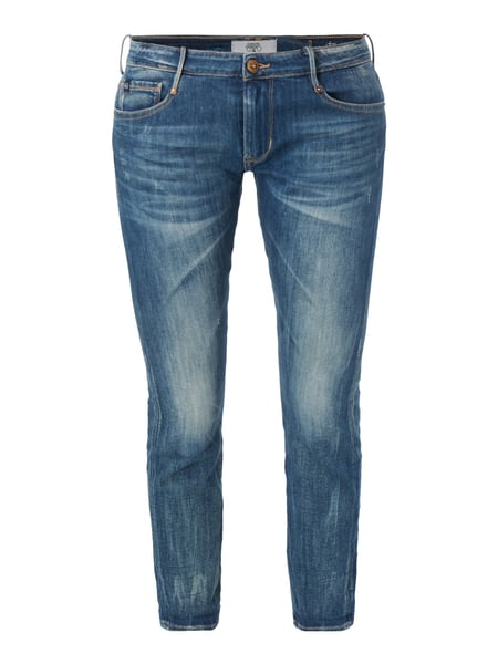 5-Pocket-Jeans im Used Look Blau / Türkis - 1
