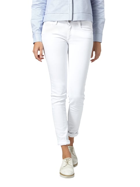 Le Temps De Cerises Coloured Skinny Fit Jeans mit Stretch-Anteil Weiß - 1