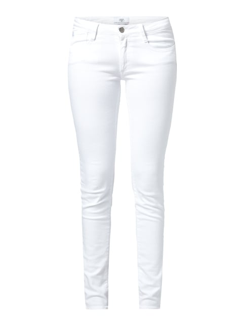 Coloured Skinny Fit Jeans mit Stretch-Anteil Weiß - 1