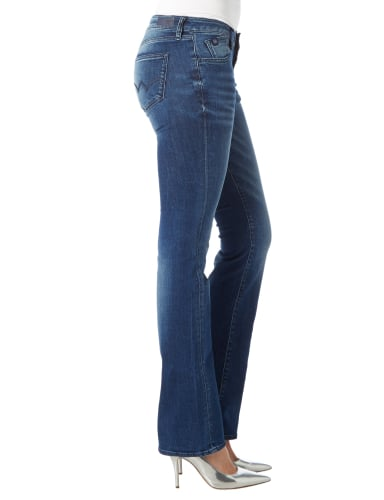 Le Temps De Cerises Flared Cut Jeans im Stone Washed Look Jeans meliert - 1
