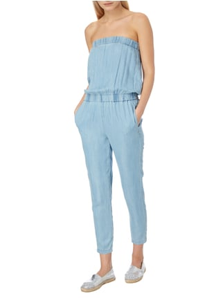 Le Temps De Cerises Off Shoulder Jumpsuit aus Lyocell in Blau / Türkis - 1