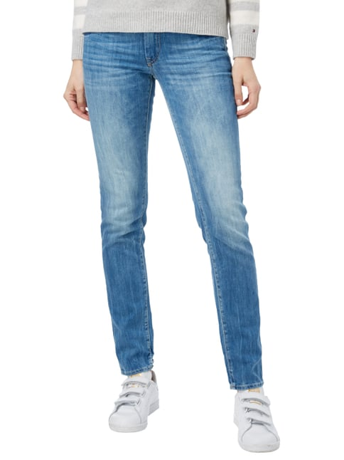 Le Temps De Cerises Stone Washed Slim Fit 5-Pocket-Jeans Jeans meliert - 1