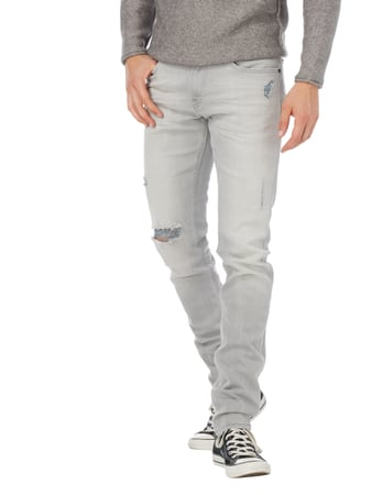 Lee Slim Fit Jeans im Destroyed Look Mittelgrau - 1