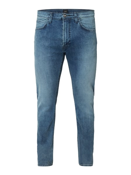 Lee Luke - Stone Washed Slim Tapered Fit Jeans Blau