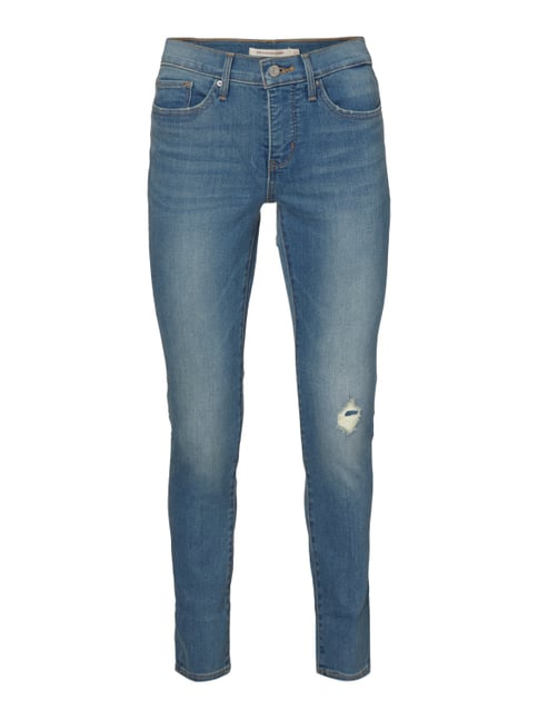 Shaping Skinny Fit Jeans im Destroyed Look Blau / Türkis - 1