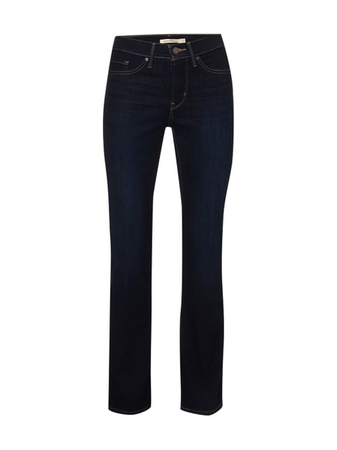 Stone Washed Shaping Straight Fit Jeans Blau / Türkis - 1