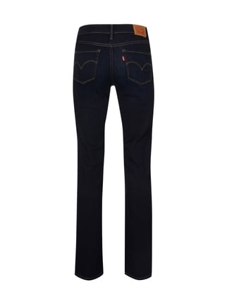 LEVIS 300 Stone Washed Shaping Straight Fit Jeans Dunkelblau meliert - 1