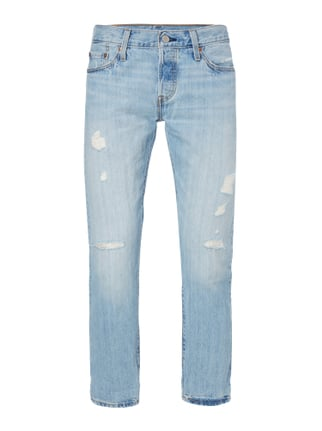 Straight Fit 5-Pocket-Jeans im Destroyed Look Blau / Türkis - 1