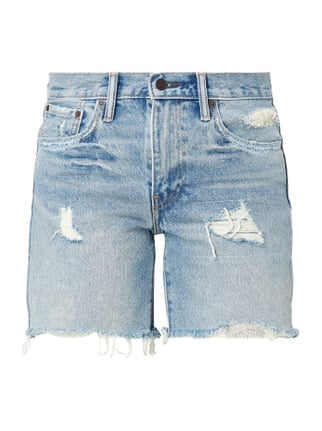 5-Pocket-Jeansshorts im Destroyed Look Blau / Türkis - 1