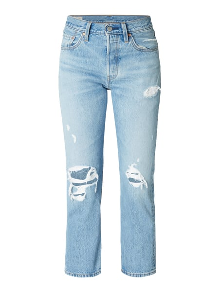 Levi's® Cropped Regular Fit Jeans im Destroyed Look Blau - 1