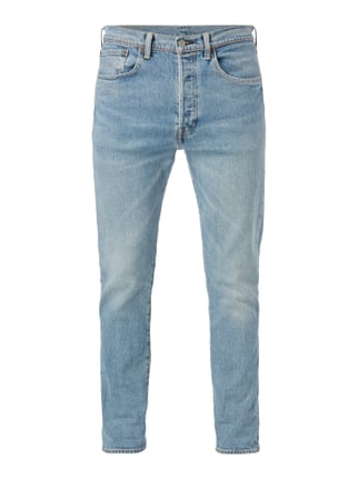 Double Stone Washed Slim Fit Jeans Blau / Türkis - 1