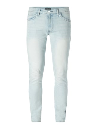 Bleached Slim Tapered Fit Jeans Blau / Türkis - 1