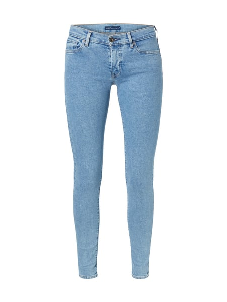 Levi's® Made & Crafted Bleached Skinny Fit Jeans Marineblau