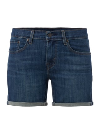 Rinsed Washed 5-Pocket-Jeansshorts Blau / Türkis - 1