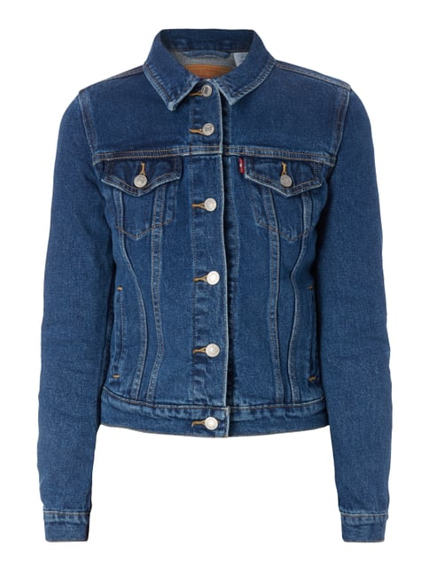 One Washed Jeansjacke mit Stretch-Anteil Blau / Türkis - 1