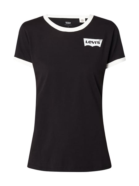 Levi's® Perfect Ringer T - PERFECT RINGER TEE BATWING RINGER JET BLACK Schwarz