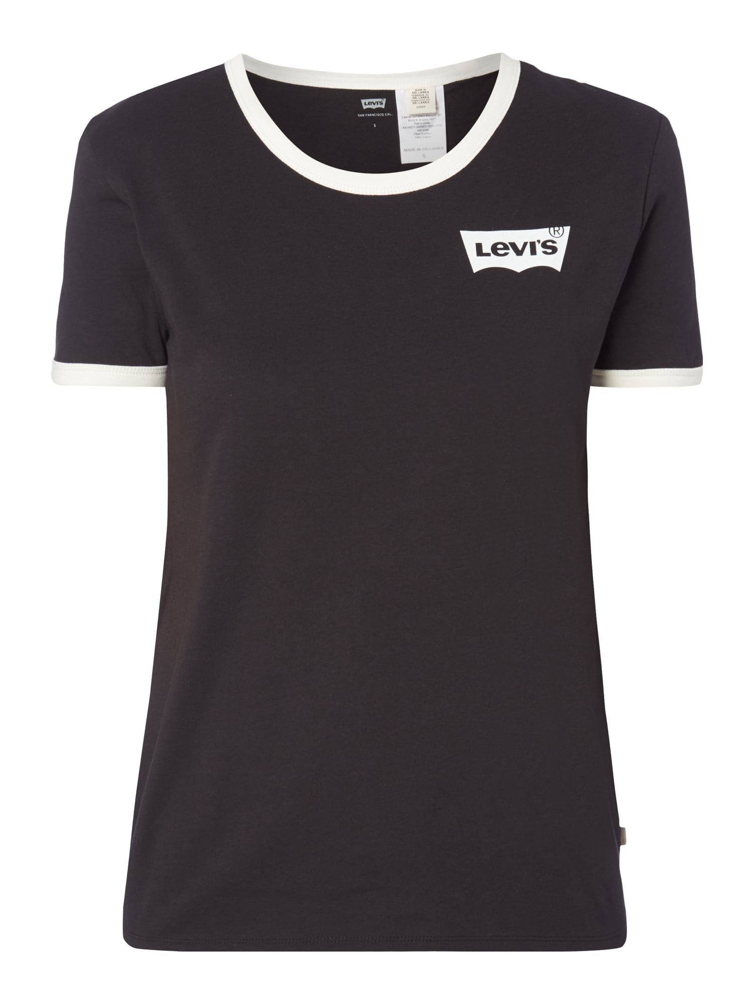 levi s perfect ringer tee shirt im retro look in grau. Black Bedroom Furniture Sets. Home Design Ideas