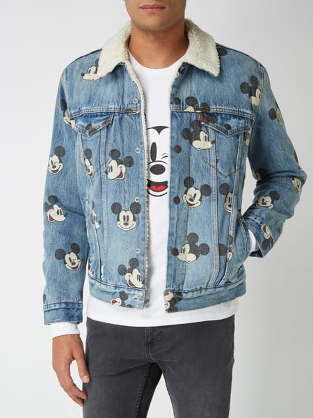 Levi S Sherpa Trucker Jacket Mit Mickey Mouse 169 Prints In