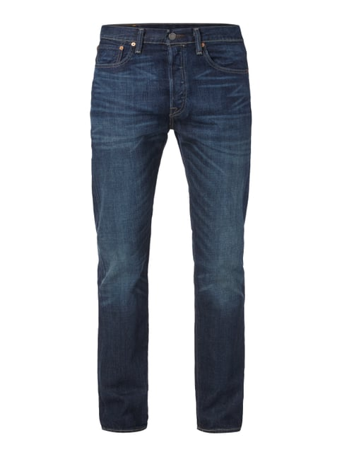 Stone Washed Original Fit 5-Pocket-Jeans Blau / Türkis - 1