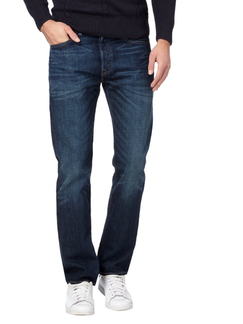Levi's® Stone Washed Original Fit 5-Pocket-Jeans Dunkelblau - 1