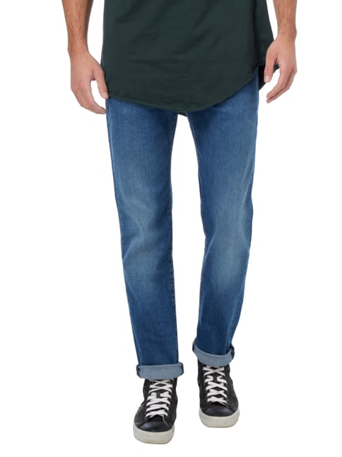 Levi's® Stone Washed Slim Fit 5-Pocket-Jeans Blau - 1