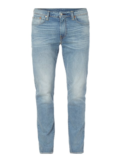 Stone Washed Slim Taper Fit Jeans Blau / Türkis - 1