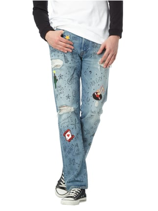 Levi's® Straight Fit Jeans im Destroyed Look mit Prints Jeans - 1