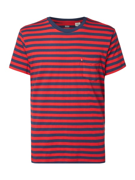 Levi's® Sunset Pocket Tee Cooler Stripe Chinese Red/Dress Blues Rot