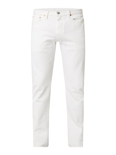 Levi's® – Tapered Fit Jeans mit Stretch Anteil Modell '502' – Weiß