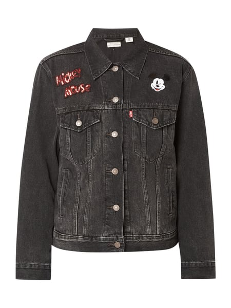 b5c30812a2d4 Levi's® – Trucker Jacket mit Mickey Mouse©-Applikationen – Dunkelgrau