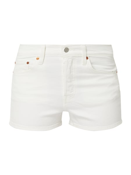 Levi's® Water<Less™ High Rise Jeansshorts mit Label-Patch Weiß - 1